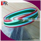 elastic hair band for promotion bracelet and packaging ,three color printed italy flag elastic band