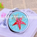 Wholesale Pocket Mirrors Zinc Alloy Compact Mirror Craft Metal Cosmetic Mirror