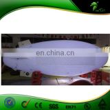 Outdoor Advertising Inflatable White Airship With Banner Velcro / LED Lighting Advertising Inflatable Helium RC Blimp