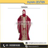 New Dubai Moroccan Chiffon Caftan Arabian Farasha Long Dress For Women