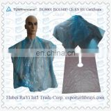 Disposable Plastic Hair Coloring Cape for Salon Use
