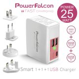 PowerFalcon USB-A and USB-C and QC 3in1 interchangeable Chargers