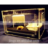 cheap acrylic hamster case frog pet display cage