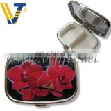 Colorful rectangtular shaped iron pill box