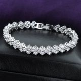 Custom Engagement Gift Bridal Jewelry Bracelet with Cubic Zircon