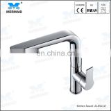 Guangdong Factory Supply Chrome Brass Swivel Kitchen Sinks Faucet 360 degree rotating Kitchen Mixer Tap