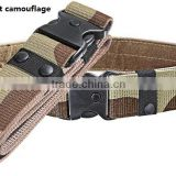 Military Men Nylon webbing camouflage Canvas tactical belt