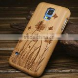 Customized Case, cell phone case for samsung galaxy s5 Wood Bamboo Case