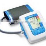 Arm blood pressure monitor with charge measurement