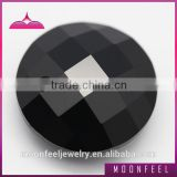 black glass gem round checkerboard faceted gemstones