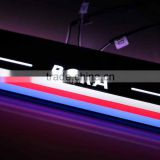 new auto replacement accessory LED flash car door pedal plate light with logo for Bora sill light