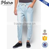 Long Vintage Washed Fashion Jean Jogger Pants for Men