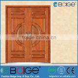 BG-AF9006 double leaf decorative steel wood door