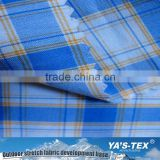 Shaoxing fabric supplier shirt fabric yarn dyed woven polyester spandex shirt fabric