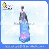 LED home decoration acrylic transparent mary and baby jesus statue light