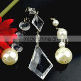 Loose glass / acrylic beads decorative Curtain /chandelier stones with holes for decoration
