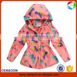 2015 New design print winter jacket kids outwear windproof child clothes wholesale boutique winter coat children (ulik-J003)