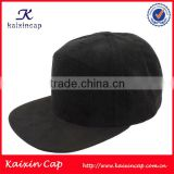 custom fashion design your own logo blank black corduroy snapback cap hat with suede flat bill wholesale