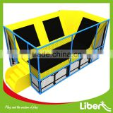 Trampoline Mat Surrounded Cheap Small Children Indoor Trampoline Park with Safety Enclosure