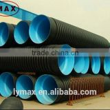 ISO GB flexible metal reinforced HDPE corrugated plastic drain pipe price, flexible corrugated drainage pipe