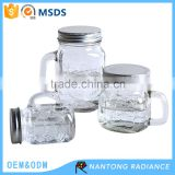 Glass mason jar storage bottle glass drinking jar Jam jar with handle                                                                         Quality Choice