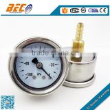 (YNZ-40D) 40mm waterproof center back special interface type vacuum dial reading gas lpg pressure gauge