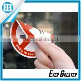 Round PVC Sticker Printing,Double Sided Labels Glass Mirror Sticker Waterproof