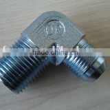 Hydraulic fittings 90 degree elbow JIC male 74 degree cone