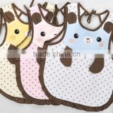 cute baby cotton apron/baby bear shape dinner apron/baby waterproof apron