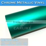 SINO 5FTx65.6FT Waterproof Matt Teal Chrome Metallic Adhesive Paper                                                                         Quality Choice