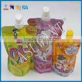 Baby food pouch with spout/ Juice packing bag/Plastic bag for drinks                                                                         Quality Choice