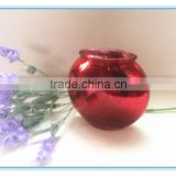 2016 Hot sale antique red color glass fish bowl vase for home decoration
