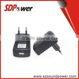 SDPower Euplug KC plug UK plug USA plug 5V 1.5a 7.5w switching power adapter travel charger