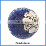 Wholesale Fashion Indonesia Style Metal & Resin Navy Blue Jewelry Beads PCB-M100584