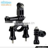 Bicycle Handlebar Seatpost Clamp with Three-way Adjustable Pivot Arm for Camera 3 2 1 Accessories GP02