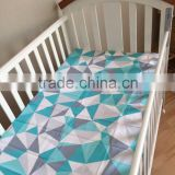 115x150cm Bule Paterre Pattern100% Cotton Soft Touch Baby Cot Sheet                                                                         Quality Choice