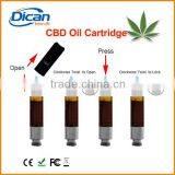 New .5ml hemp oil vaporizer pen cartridge plastic case packaging bud touch cbd e cigarette