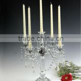 New Arrived Cheap Crystal Candleholder Candelabras for Glass Wedding Decoration & Table Centerpieces