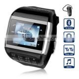Q8 cheap Watch Phone With 1.5 inch Touch Screen Dual SIM Bluetooth Camera Compass Keyboard Black                                                                         Quality Choice