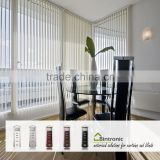 Bintronic Taiwan Wireless Remote Motorized Vertical Blinds With Aluminium Vertical Blind Head Rail