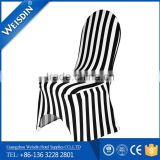 Wholesale new design fancy black and white spandex chair cover for banquet and party for sale