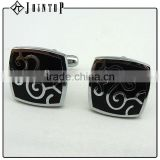 promotional crazy selling metal silk flower knot cufflink