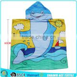 Wholesale Cute dolphin kids hooded robe towel with OEM design                                                                         Quality Choice