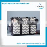 Chevron Pattern Big Volume Baby Bag Fashion Designer Double Duo Chevron Baby Diaper Bag for Mommy