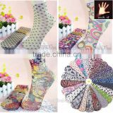 Fashion Printed Patterned Candy Ankle Silk Socks Lady women favor
