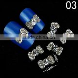 3d metal nail decoration bow tie rhinestone nail art&design pictures