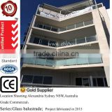 Closed balcony glass safety fence panels decorative garden fencing with galvanized steel balustrades