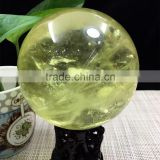 Natural Quartz Crystal Citrine Yellow Ball Sphere Ornaments