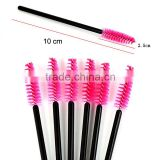 New 10pcs/lot Make Up Pink synthetic fiber One-Off Disposable Eyelash Brush Mascara Applicator Wand Brush