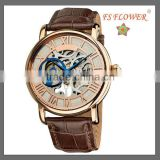 Rose Gold Chinese Automatic Mechanical Movement Watch Low Price Luxury Men's Watch
